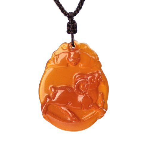 O-stone Chinese Zodiac Natural Red Chalcedony Necklace Series Goat Elegant Pendant Grounding Stone Protection Amulet