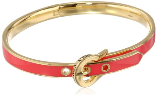 Juicy Couture Red Skinny Buckle Bangle Bracelet, 2.38