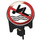 WENKO 21234100 Waschbeckenstöpsel Pluggy® No Swimming - Abfluss-Stopfen