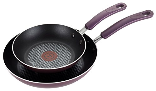 T-fal B131S2 Color Luxe Hard Titanium Nonstick Thermo-Spot Dishwasher Safe PFOA Free 8-Inch and 10-Inch Fry Pan Set Cookware, 2-Piece, Purple