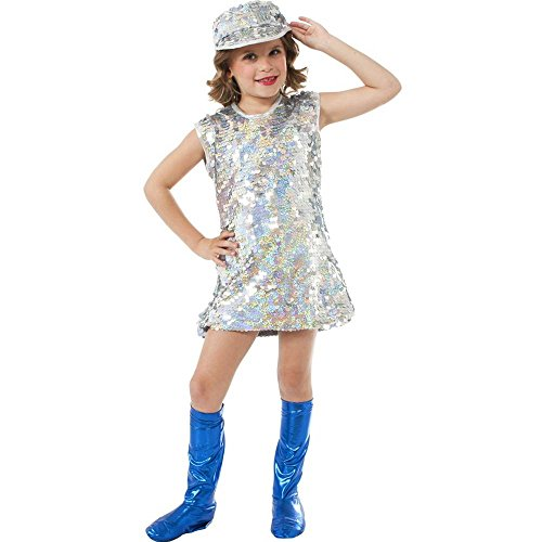 Rubies Silver Mod Girl Costume