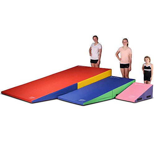We Sell Mats Gymnastics Folding and Non-Folding Incline Cheese Wedge Skill Shape Tumbling Mat (Purple/Pink, 60