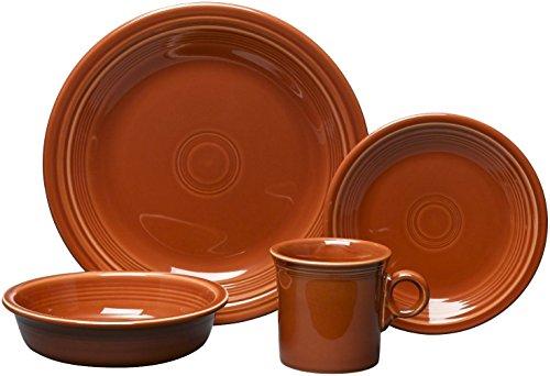 16 Piece Dinnerware Set Color: Paprika