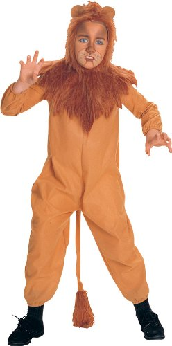 Wizard Of Oz Child'S Cowardly Lion Costume, Small front-1021140