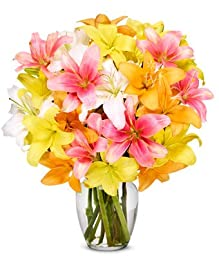 From You Flowers - Stunning Lily Bouquet - Premium (Free Vase Included)