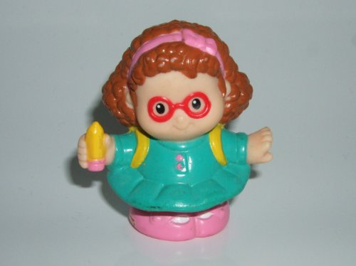 Little People Maggie (Backpack & Pencil in Hand) 2001 Mattel Replacement Figure - Fisher Price Zoo Doll Circus Ark Toy Pet Shop - 1