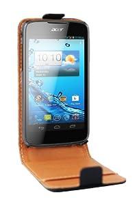 Swiss Charger - SCP10048 - Etui véritable en cuir pour Acer Gallant Duo - Noir