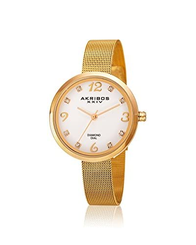 Akribos XXIV Women's AK875YG Lux Gold-Tone Alloy Watch