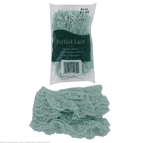 50 Bags of Seafoam Green Ruffled Edge Lace 12'