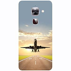 Casotec Airplane Design 3D Printed Hard Back Case Cover for LeEco Le Max 2