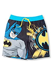 Contrast Drawstring Batman Print Swim Shorts