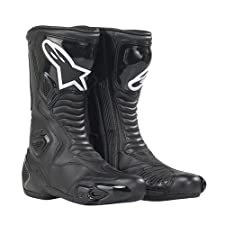 Alpinestars S-MX 5 Black Waterproof Motorcycle Boots Size EUR 44 US 9.5