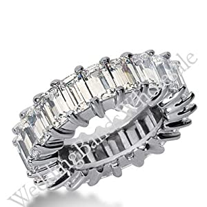 950 Platinum Diamond Eternity Wedding Bands, Shared Prong Setting 11.00 ct. DEB243PLT - Size 10