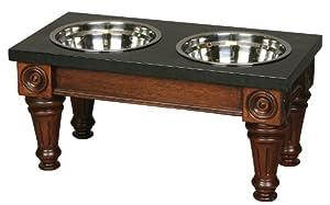 Unleashed Life Hudson Table with Black Granite Top, Medium