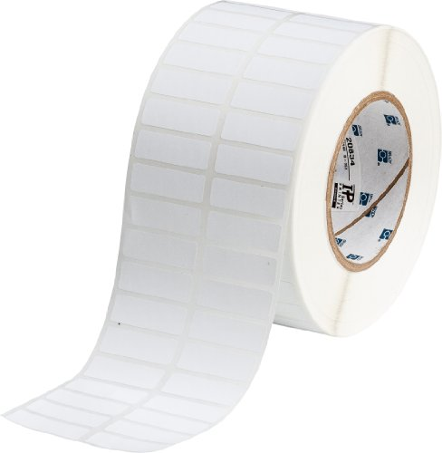 "Brady Tht-37-351-10 1.5"" Width X 0.5"" Height, B-351 Tamper Resistant Vinyl, Matte Finish White Thermal Transfer Printable Label (10000 Per Roll)"