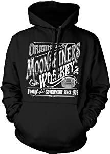 Original Moonshiners Whiskey Hooded Sweatshirt, Foolin' The Government Since 1776 Moonshine Design Hoodie