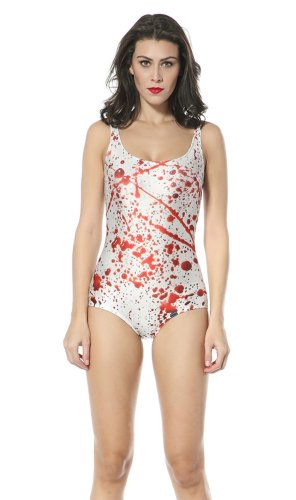 Ndb Blood Print One Piece Swimsuit Swimwear Beach Cloth