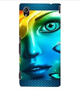 ColourCraft Beautiful Girl Look Design Back Case Cover for SONY XPERIA M4 AQUA