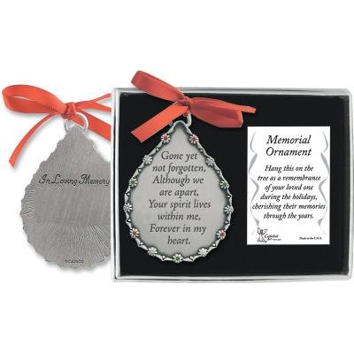 Cathedral Art Co520 Gone Yet Not Forgotten Teardrop Memorial Ornament, 2-3/4-Inch front-1032500