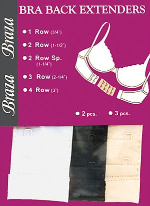 Purchase Braza Bra Back Extenders 1 Hook .75 inch Assorted 3pc