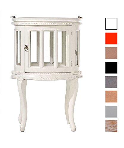 CLP-Teetisch-rund-Durchmesser--50-cm-Mahagoni-Holz-bis-zu-8-Holz-Farben-whlbar-wei