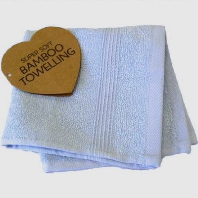 Bamboo Flannel, Face/wash Cloth - Luxury Elegance Towel Range (blue)