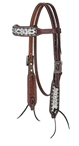 Weaver Leather Stacy Westfall Showstopper Browband Headstall, Rich Brown