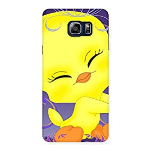 Gorgeous Yellow Tweet Back Case Cover for Galaxy Note 5