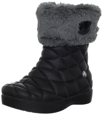 Crocs Super Molded Boot G Boot (Toddler/Little Kid/Big Kid),Black/Graphite,8 M US Toddler