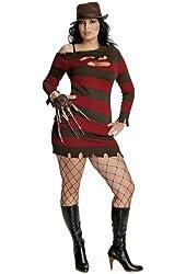 Rubies Costume Co Women's Miss Freddy Krueger Plus Size Costume