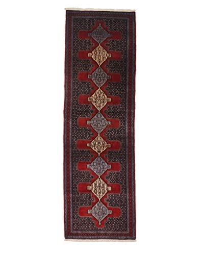 Darya Rugs Persian One-of-a-Kind Rug, Red, 3' x 9' 8 Runner