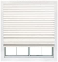 Easy Lift, 48-inch by 64-inch, Trim-at-Home (fits windows 28-inches to 48-inches wide) Cordless Pleated Shade, Light Filtering, White