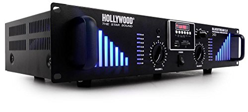 Amplificateur PA 2400 W DJ bluetooth USB carte mémoire AUX Bluestream 2.0 noir