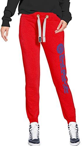 M. Conte Slim Fit pantaloni lunghi da jogging pantaloni da jogging da donna blu e rossi rosa grigio. Sport Pantaloni corti pantaloni da jogging, pantaloni da allenamento per il tempo libero Pantaloni Super morbido e soffice Ramona My Red XL