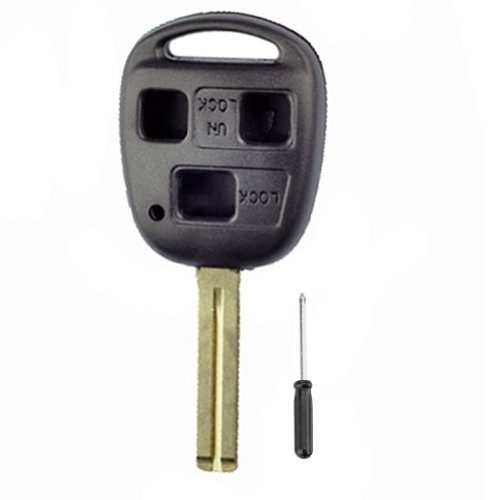 3 Buttons Remote Key Shell 2002 2003 04 For Lexus Es300 Es 330 No Chips Inside Clbt/C/245/2002 37Mm Short Blade