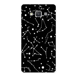 Enticing Constellation Black Back Case Cover for Galaxy Grand Max