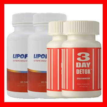 2 BOTTLE OF LIPOFUZE + 2 BOTTLE OF 3 DAY DETOX - PERFECT COMBO TO START YOUR DIET/WEIGHT LOSS