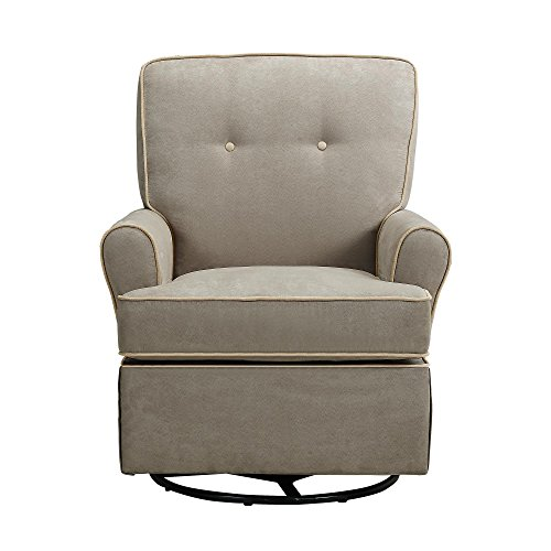 Baby Relax The Tinsley Nursery Swivel Glider Chair, Beige - Color: Beige - 1