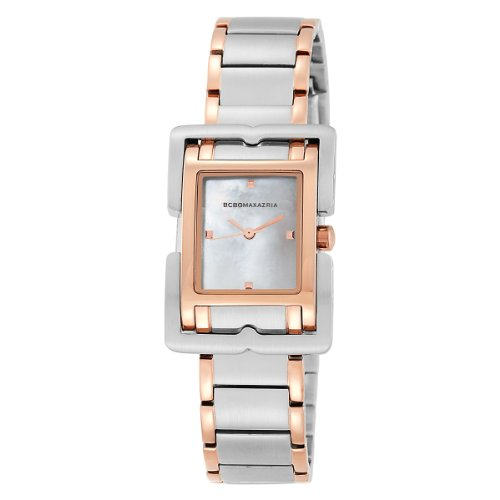 BCBG Maxazria Ladies Silver And Rose Gold Stainless Steel Braclet Watch BG8225
