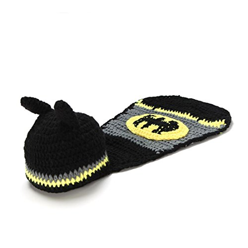 Baby Newborn Boy Girl Batman Crochet Cotton Knit Costume Photo 0-3 Months