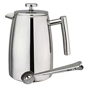 Tea And Coffee Maker French Press Coffee Plunger : Amazon.com: LeCafe Collection Best Stainless Steel French Press Coffee and Tea Maker, Plunger ...