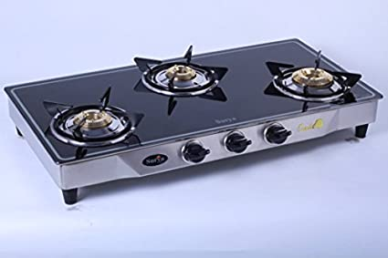 RJB IN Surya C Glass Gas Cooktop (3 Burner)