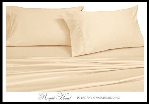 California King Ivory Silky Soft Bed Sheets 100% Rayon From Bamboo Sheet Set front-381773