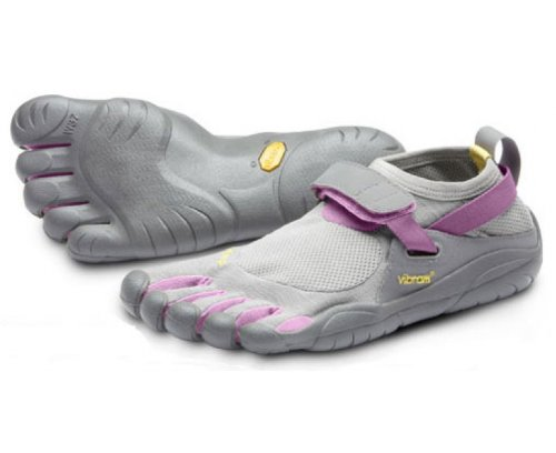 VIBRAM Fivefingers Ladies KSO Running Shoes, Grey/Pink, UK8