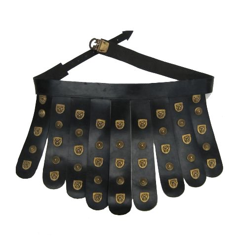 Roman Leather Apron BeltBrass Fittings - Cingulum - Wearable Costume Armor