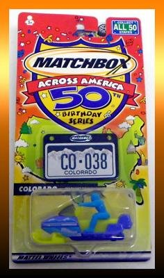 Matchbox Across America 50th Birthday Series Colorado Snowmobile