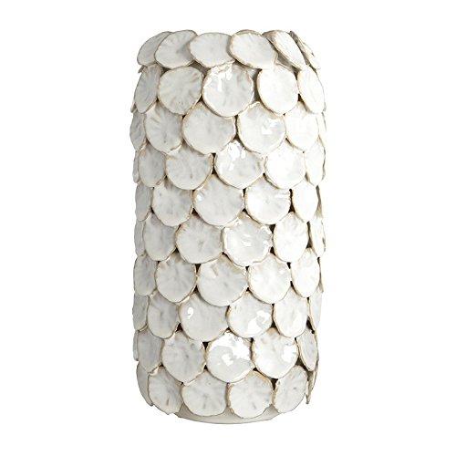 HOUSE DOCTOR Ch0501 Vase 'Lea' weiß, 15x30cm, Struktur