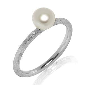 Valero Pearls - 60201736 58 - Bague Femme - Argent 925/1000 2.1 Gr - Perle d'eau douce - T 58 (18.5)