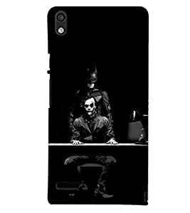 PRINTSHOPPII BATMAN JOKER Back Case Cover for Huawei Ascend P6::Huawei P6::Huawei Ascend P6 Dual