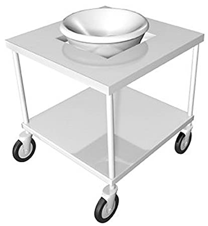 "IMC Teddy MBS-U30 Open Base with Under-Shelf Mobile Bowl Stand for 30 Quart Bowl, 24"" W x 24"" L x 36"" H"
